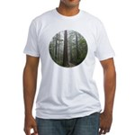 Redwood Forest Fog Fitted T-Shirt