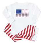 American Flag made up of Snowmobiles Baby Pajamas