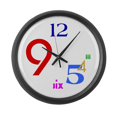 Colorful Large Wall Clock