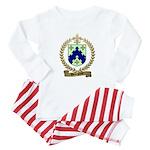 BOURGEOIS Family Crest Baby Pajamas