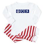 Peace Love Climb Baby Pajamas