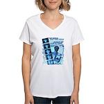 QL Design by Troy M. Grzych Women's V-Neck T-Shirt