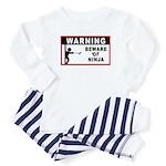 Beware of Ninja Baby Pajamas