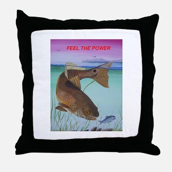 Cute Saltwater fishing Throw Pillow