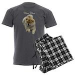 Chow Chow Dog Men's Charcoal Pajamas
