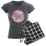 Inspirational Flying Pig Women's Charcoal Pajamas