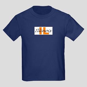 ILLINOIS- IL Kids Dark T-Shirt