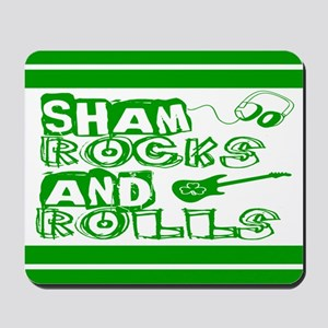 Shamrocks and Rolls Mousepad