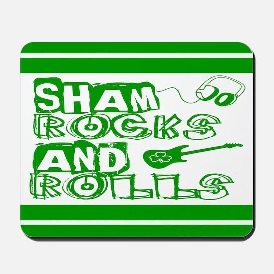 Shamrocks and Rolls Mousepad