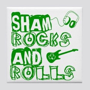 Shamrocks and Rolls Tile Coaster