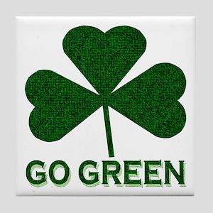 Go Green Tile Coaster