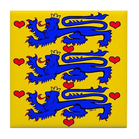 Denmark: Heraldic Tile Coaster