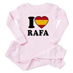 I Love Rafa Nadal Baby Pajamas
