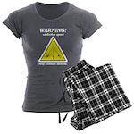 Warning: Addictive Sport Women's Charcoal Pajamas
