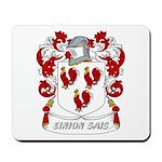 Einion Sais Coat of Arms Mousepad