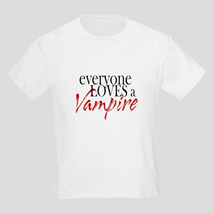 Everyone Loves a Vampire Kids Light T-Shirt