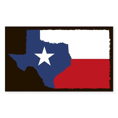 Texas State Flag Rectangle Sticker