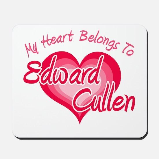 Edward Cullen Heart Mousepad