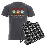 One By One The Gnomes Men's Charcoal Pajamas