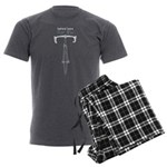 Behind Bars For Life - Roadie Men's Charcoal Pajam