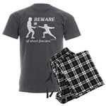 Beware of Short Fencers Men's Charcoal Pajamas