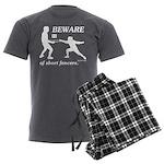 Beware of Short Fencers Men's Charcoal Pajamas