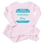 Hello my name is MONKEY BOY Baby Pajamas