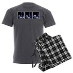 Fencing Thrust Sequence Men's Charcoal Pajamas