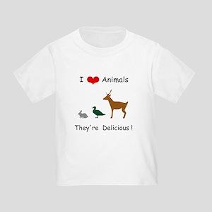 I Love Animals Toddler T-Shirt