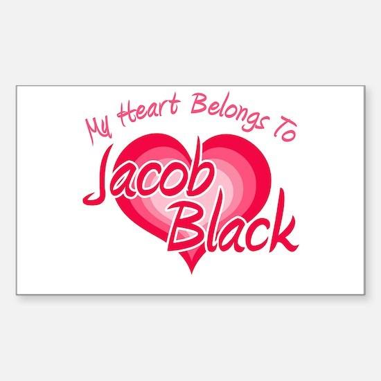 Heart Jacob Black Rectangle Decal