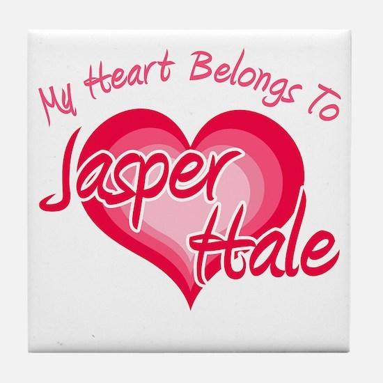 Heart Jasper Hale Tile Coaster