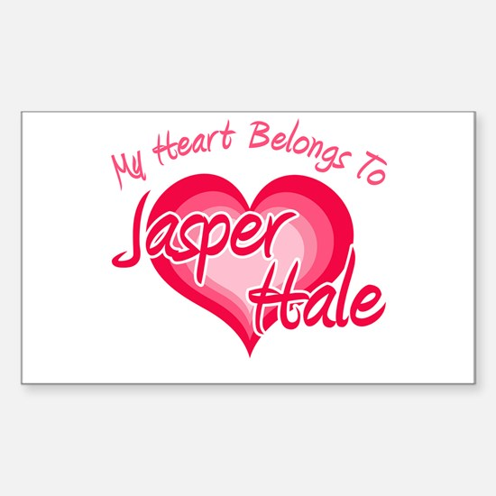 Heart Jasper Hale Rectangle Decal