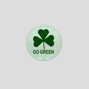 Go Green Mini Button