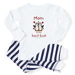 Mom best bud (penguin design) Baby Pajamas