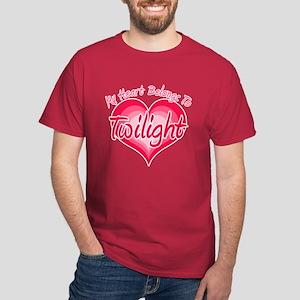 Heart Belongs Twilight Dark T-Shirt