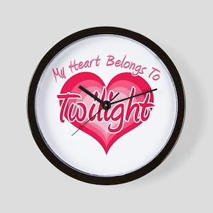 Heart Belongs Twilight Wall Clock