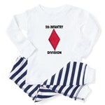 5TH INFANTRY DIVISION Baby Pajamas