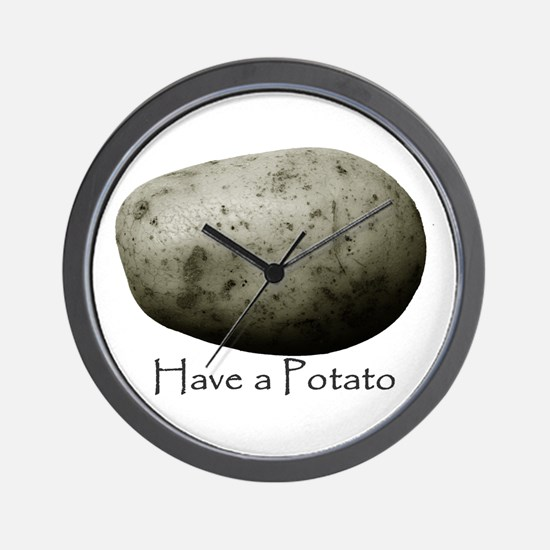 Cute Potato Wall Clock