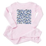 School of Marlin and a Swordfish Baby Pajamas