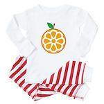 Orange Baby Pajamas