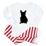 French Bulldog Silhouette Baby Pajamas