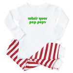 Who's Your Pep Pep? Baby Pajamas