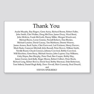 THANK YOU! Rectangle Sticker