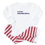 A is for Anacostia River Baby Pajamas