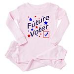 Future Voter Kids Light Baby Pajamas