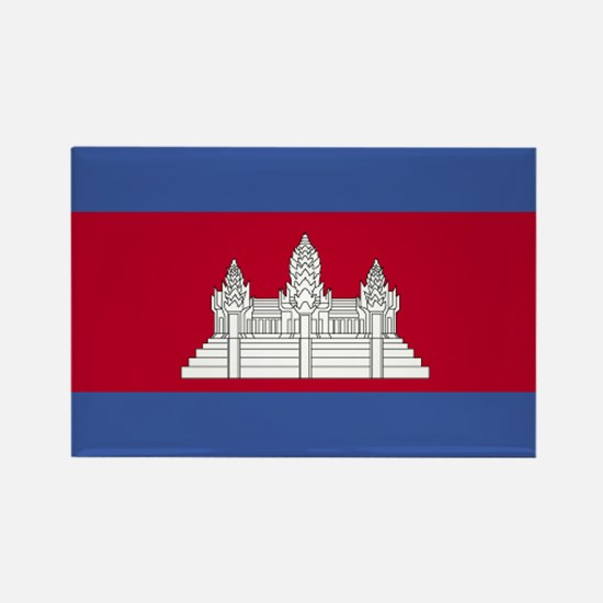 Cambodia Rectangle Magnet