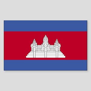 Cambodia Rectangle Sticker