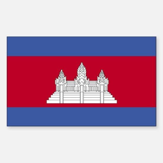 Cambodia Rectangle Decal