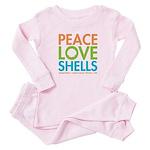 Peace-Love-Shells Baby Pajamas