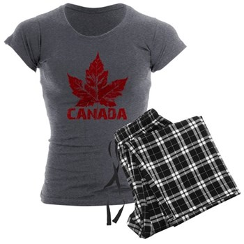 Cool Canada Women's Charcoal Pajamas